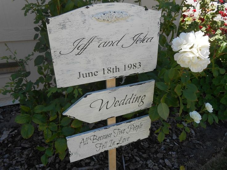 Directional Wedding  signs  Cottage, Chippy, Distressed