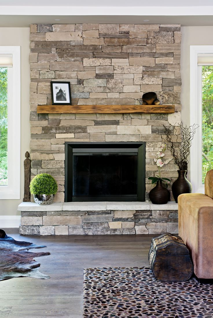 Living Room Stone Wall In Living Room