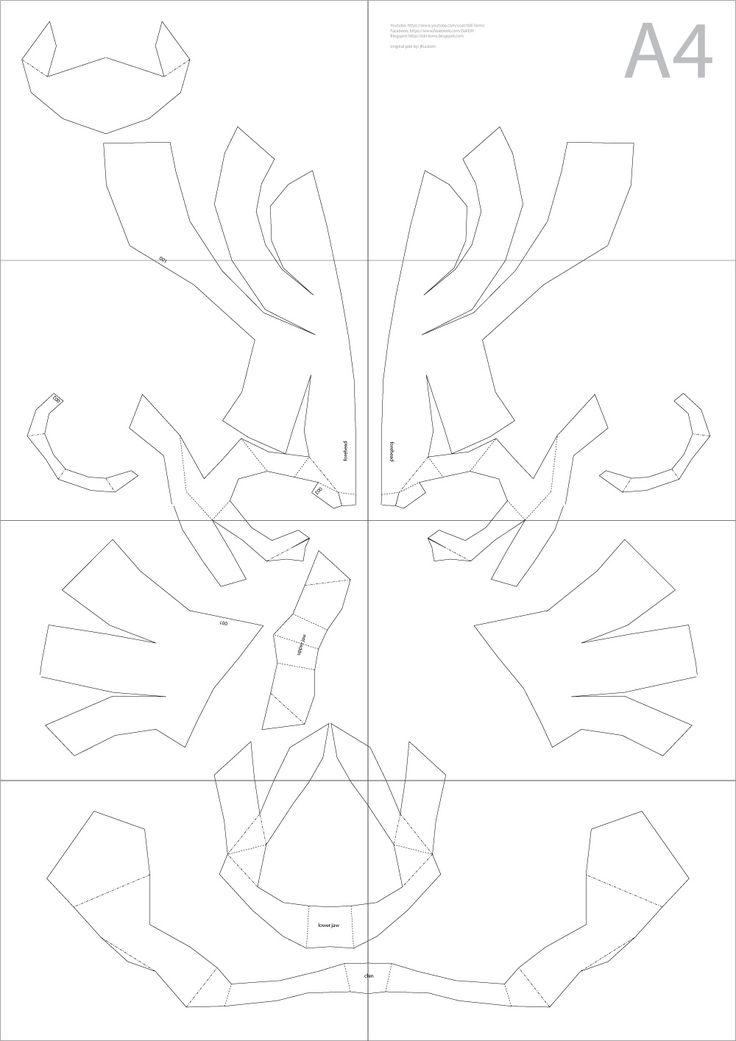 Express: Halloween DIY Cardboard Skull Display Props (PDF