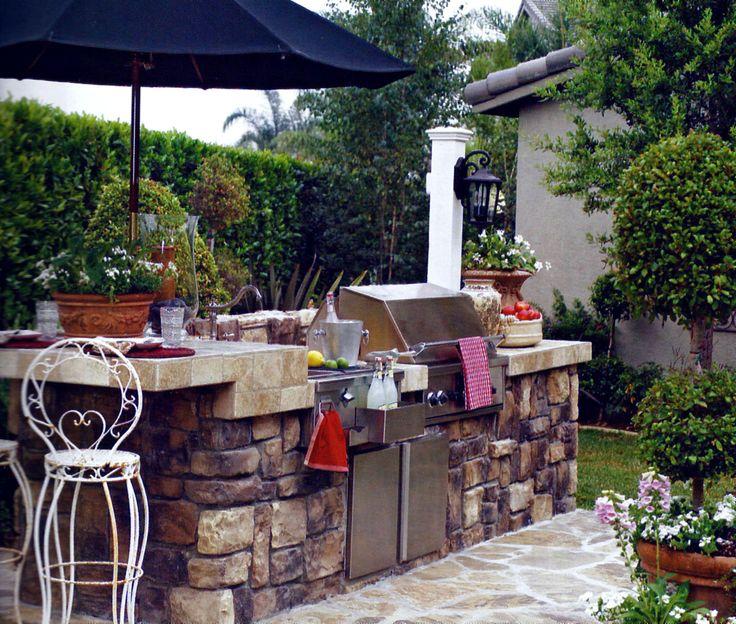 outdoor barbeque island great backyard ideas pinterest