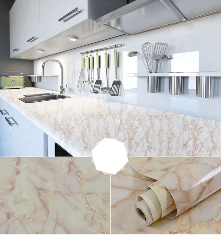 Vinyl Granite Marble Contact Paper For Kitchen Countertops