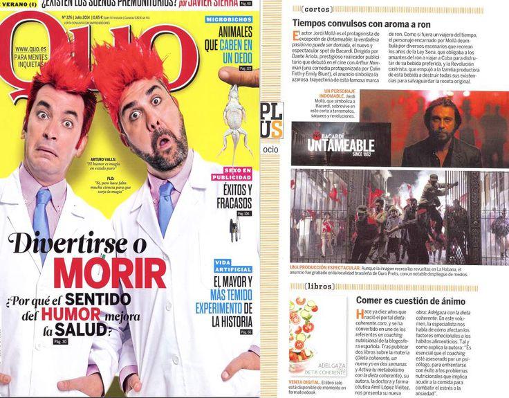 Dieta Coherente en la revista Quo del mes de Julio.