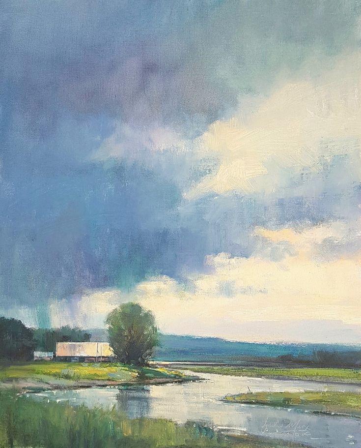 Summer in the Midlands, Oil on Canvas. 40x50cm. Ignatius Marx