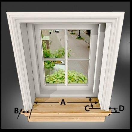 Massief houten vensterbanken bestellen
