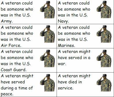 Veterans Day Thank You Poems | Elementary Matters: Thank you. Veterans!