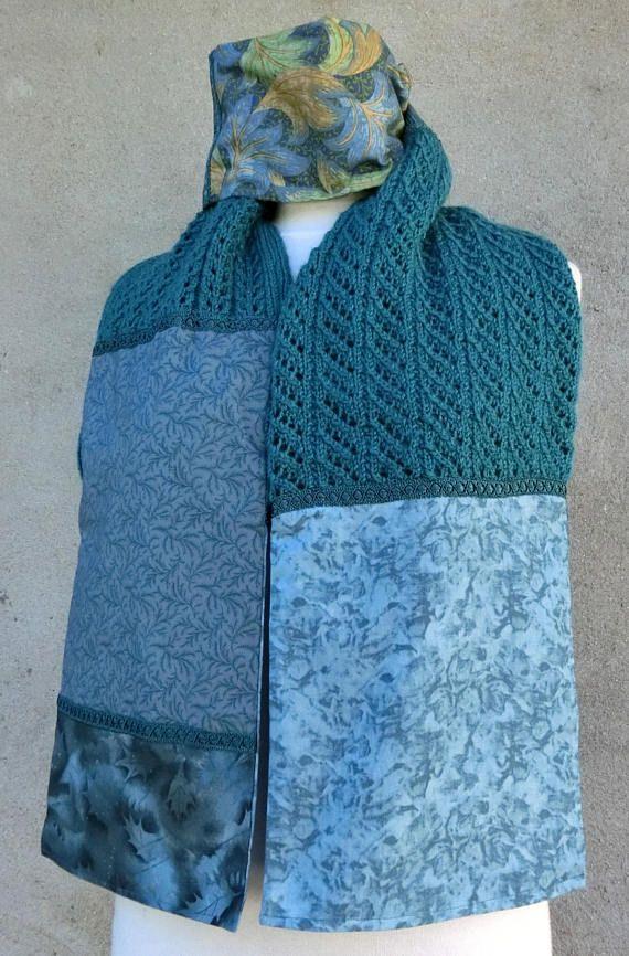 Écharpe ou Étole Femme En laine Tissu Coton et Galon