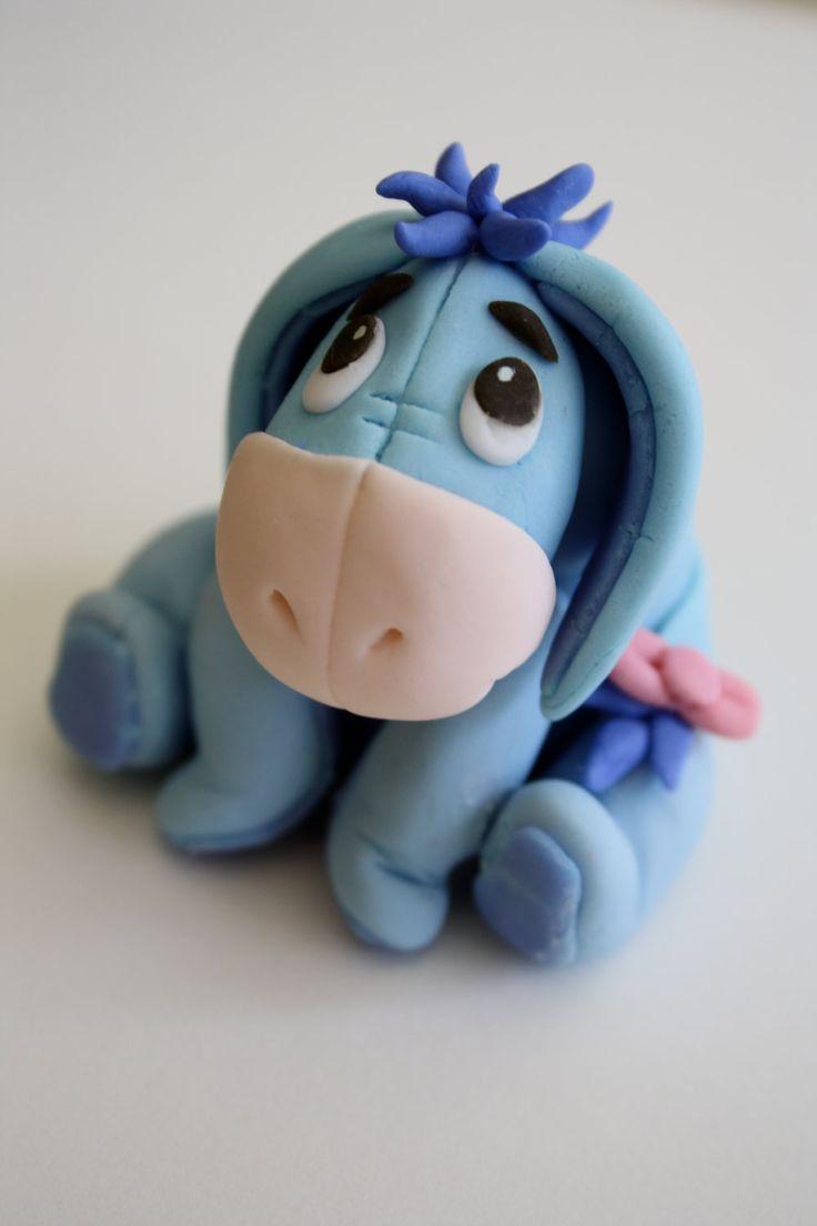 "Eeyore ""Winnie the Pooh""  inspired Fondant Cake/Cupcake Topper. $24.00, via Etsy."