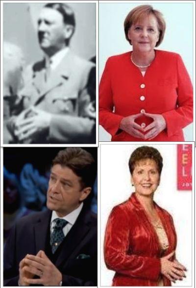 Hitler, Merkel, Conlon, Meyer Yoni Sign Collage