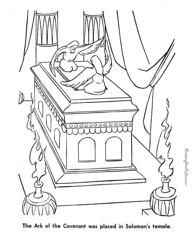 The Ark Of Covenant Coloring Page To Print This Could Be Used With