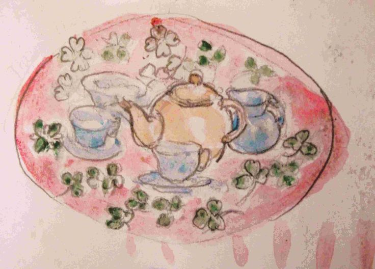 It's tea time!  [Philip Weaver's sketch book]