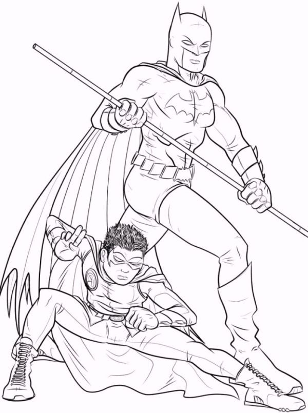 Batman And Robin Coloring Pages To Print Who Doesn T Know Batman Maybe All Dc Fans And Superh Cartoon Coloring Pages Batman Coloring Pages Spiderman Coloring