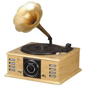 fashion  with mosic | Gramophone Record Player & Radio - Music Players Classic Old Fashioned ...