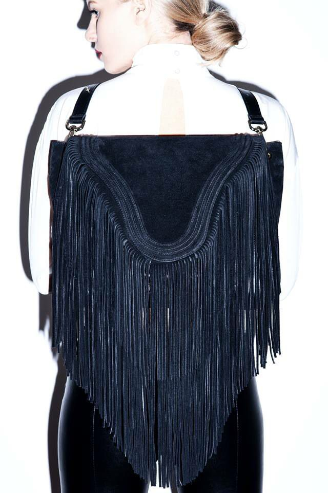 Borsa Bags Shoulderbag/backpack With fringes