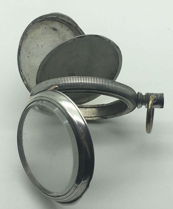Coin Silver Pocket Watch Case Only Empty 4 Piece  Number 369575 Keystone Leader  #KeystoneLeader