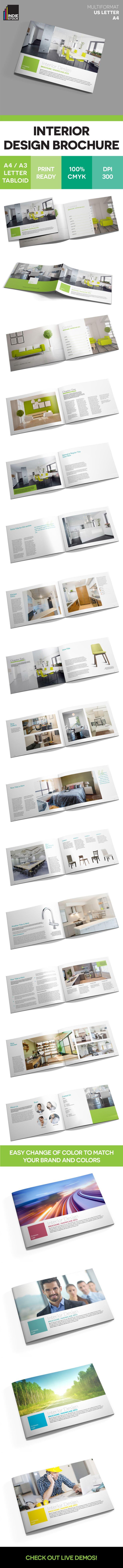 Interior Design Brochure Template - IndieStock