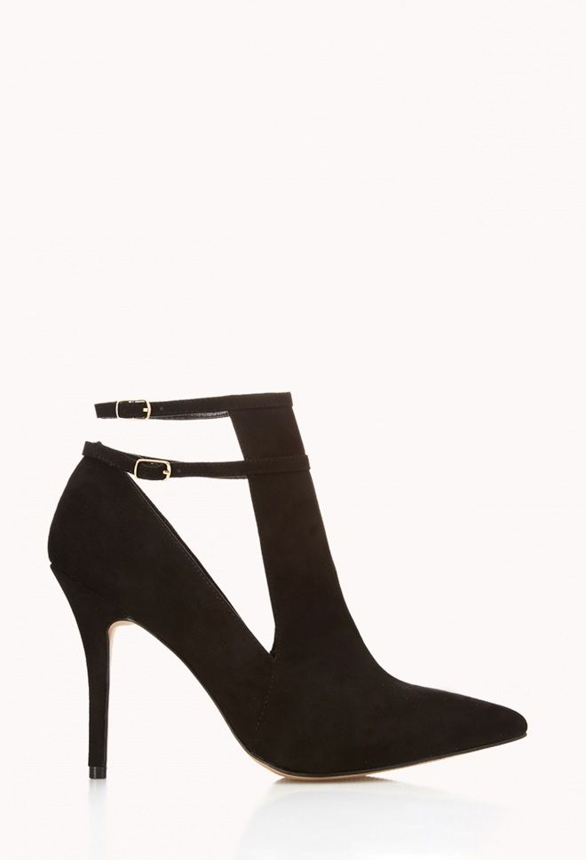 Valentine's outfit idea: Pair these strappy heels with tailored denim for a girl's night out