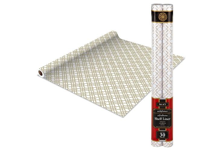 One Kings Lane - Downstairs - Shelf Liner 2 Pack, Bamboo Beige