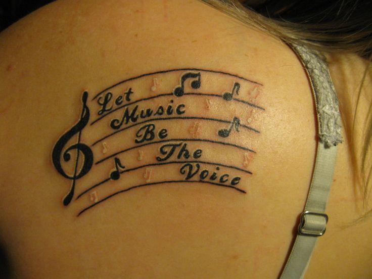 mejores 40 im genes de music notes tattoos en pinterest tatuajes de nota de m sica tatuaje de. Black Bedroom Furniture Sets. Home Design Ideas