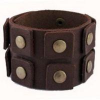 Широкие кожаные браслеты -  MUSTHAVE.com.ua