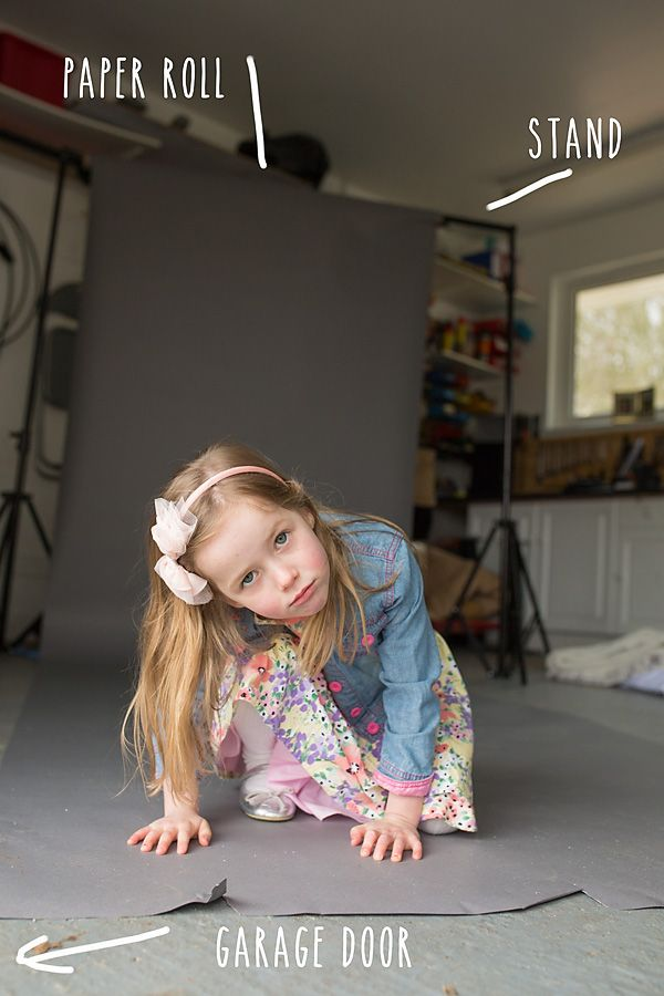As you know, I don't have a studio or any kind of studio lighting - but I  do have a garage, a cheap background stand, one roll of background paper,  and that - coupled with some natural light - is all you need for a  makeshift studio on a budget!