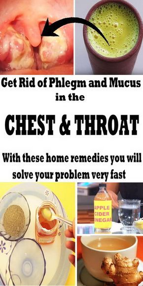 How to get rid of mucus and phlegm quickly