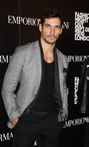 Fashion's Night Out At Armani - Arrivals - Model David Gandy