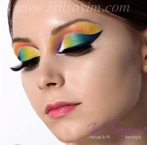 Creative and artistic makeup www.isilsayim.com Artistik fantastik makyaj uygulamalarimdan