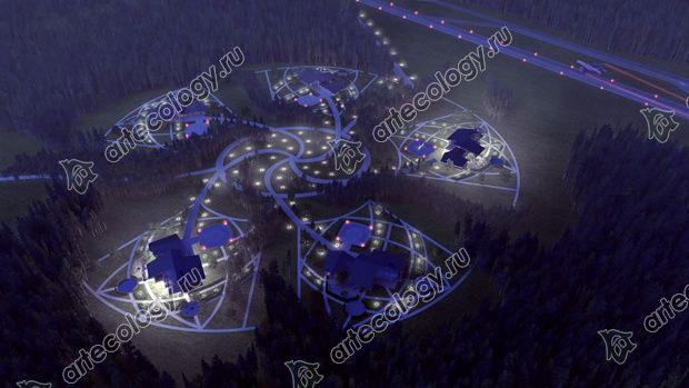 Ночная съемка с вертолета