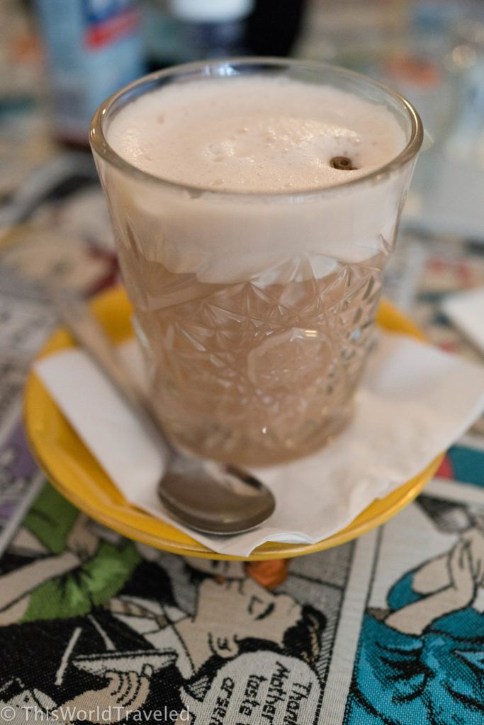 A yummy chai latte from Gs Amsterdam