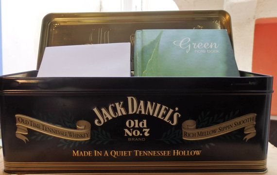Jack Daniel's tin boxOld No7 Brand Letters box  by LeFuCycliste