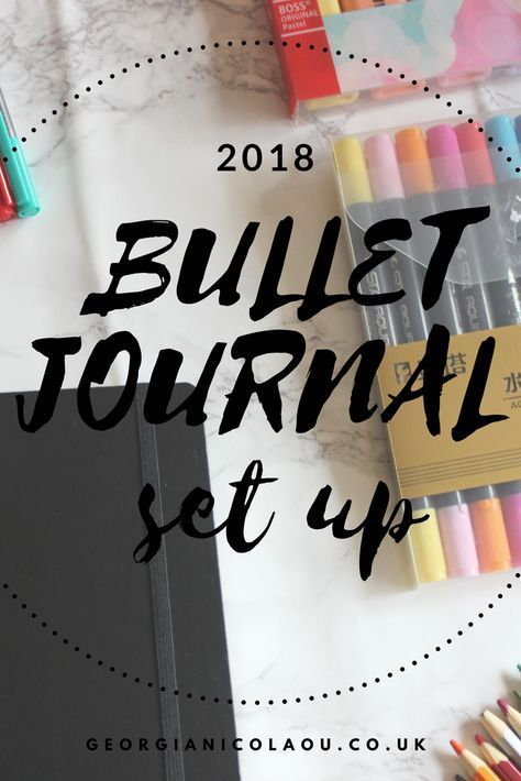 BULLET JOURNAL SET UP 2018 Need bullet journal inspiration? Here's some spread and tracker ideas