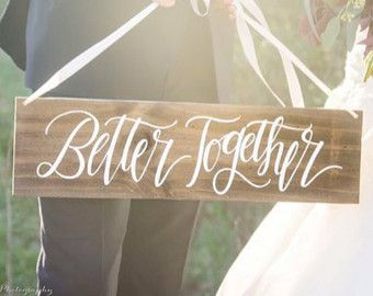 Rustic Wedding Sign No Longer Two But One by MulberryMarketDesign