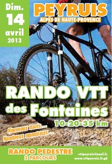 Rando VTT des Fontaines à Peyruis (04) #vtt #provence #avril #rando