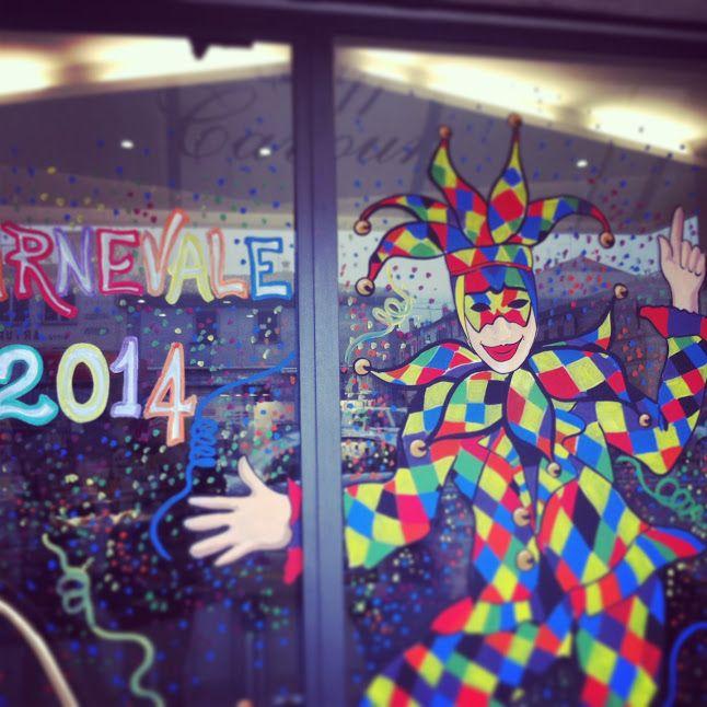 Vetrine colorate, vetrine mascherata #vetrine #maschere #carnevaledifano #fano