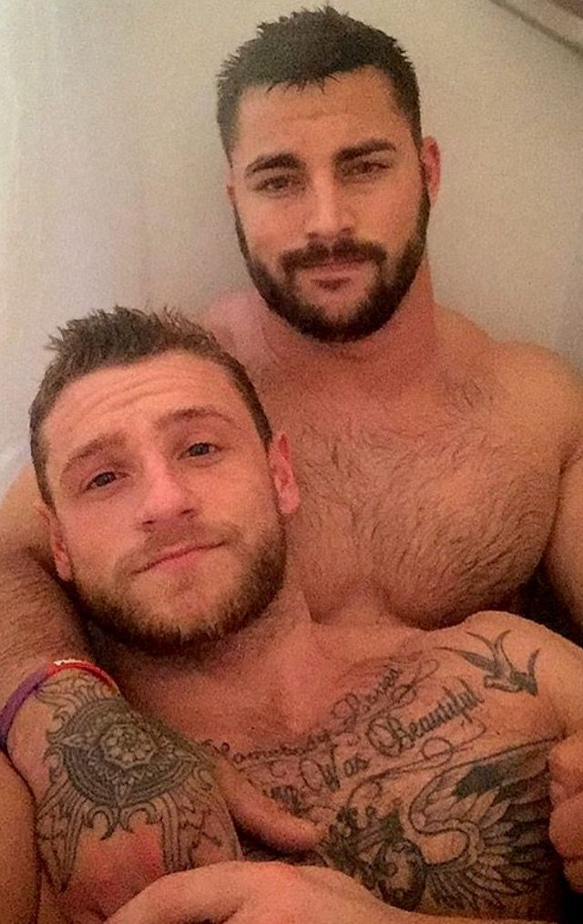Two gay hairy men