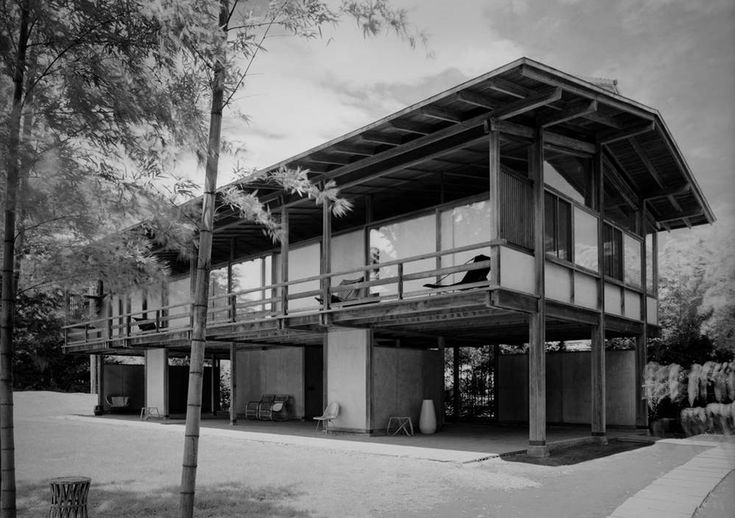 "315. Kenzo Tange /// Tange House /// Seijo, Tokyo, Japan /// 1951-1953 OfHouses presents ""Pritzkers' First Houses, part IV"": Kenzo Tange (Pritzker 1987) was the most important Japanese architect in..."