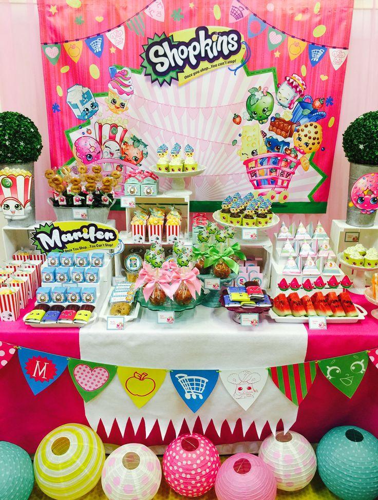 fiesta de shopkins sper divertida fiesta llena de color y deliciosos sabores