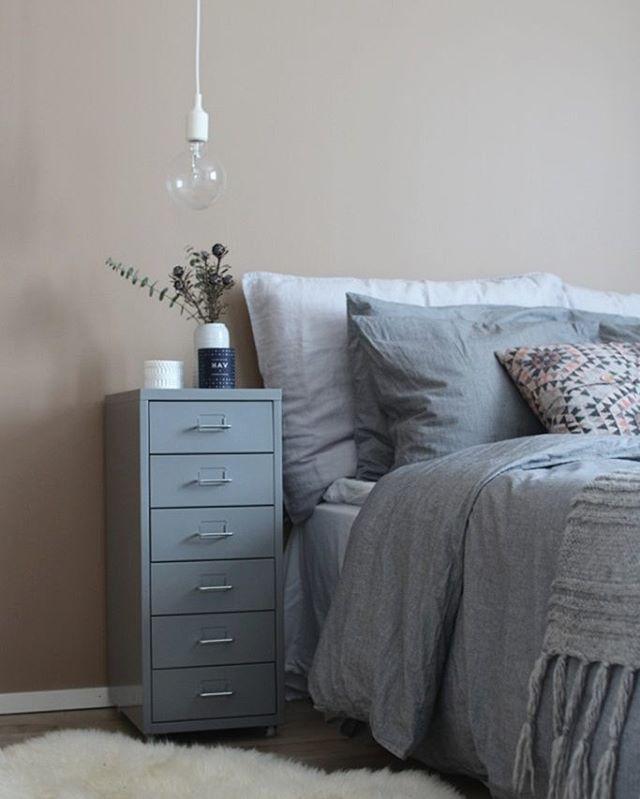 Ikea 'Helmer' cabinet as nightstand @villah_heini