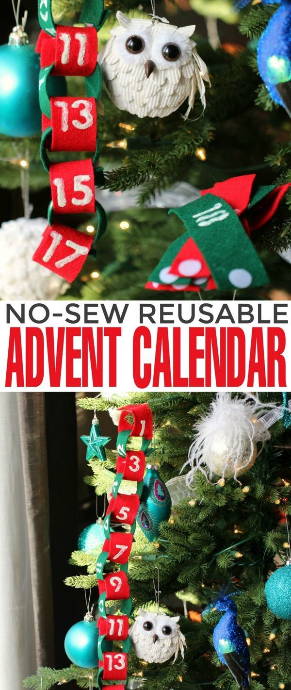 This No-Sew Reusable Advent Calendar doubles as a pretty Christmas garland for kids. This is a fun Christmas countdown activity that can be re-used again and again, year after year.