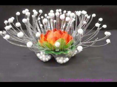 Cara Membuat lampion dan bunga dari botol aqua | Plastic ...