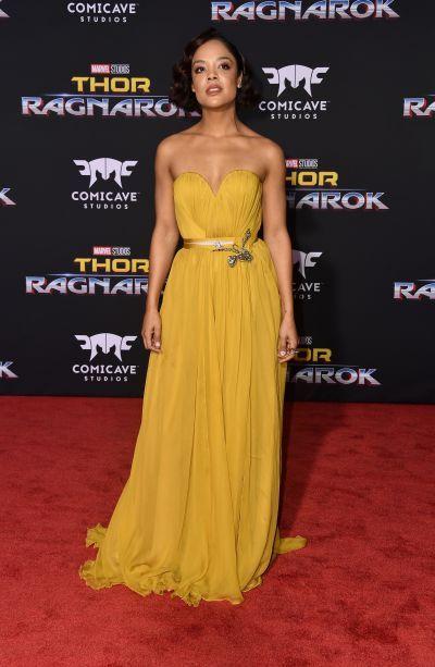 Tessa Thompson In Schiaparelli Couture – 'Thor: Ragnarok' LA Premiere 2017