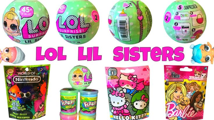 LOL Surprise LIL Sisters DOLLS ! Hello kitty, Barbie Pets, Nintendo Splatoons #loldolls #lol #lolsurprisedollslol dolls, nintendo splatoon blind bags, dolls, squishy toys, color change doll, little red riding hood hello kitty, lol surprise lil sisters dolls, doll that spits pees and crys, blind bags toys opening, lil sisters, squish princess, lol surprise, opening, squish princess tv, hello kitty blind bags, barbie blind bag, lol, doll, kids toys reviews, color change, kids toys, kids…