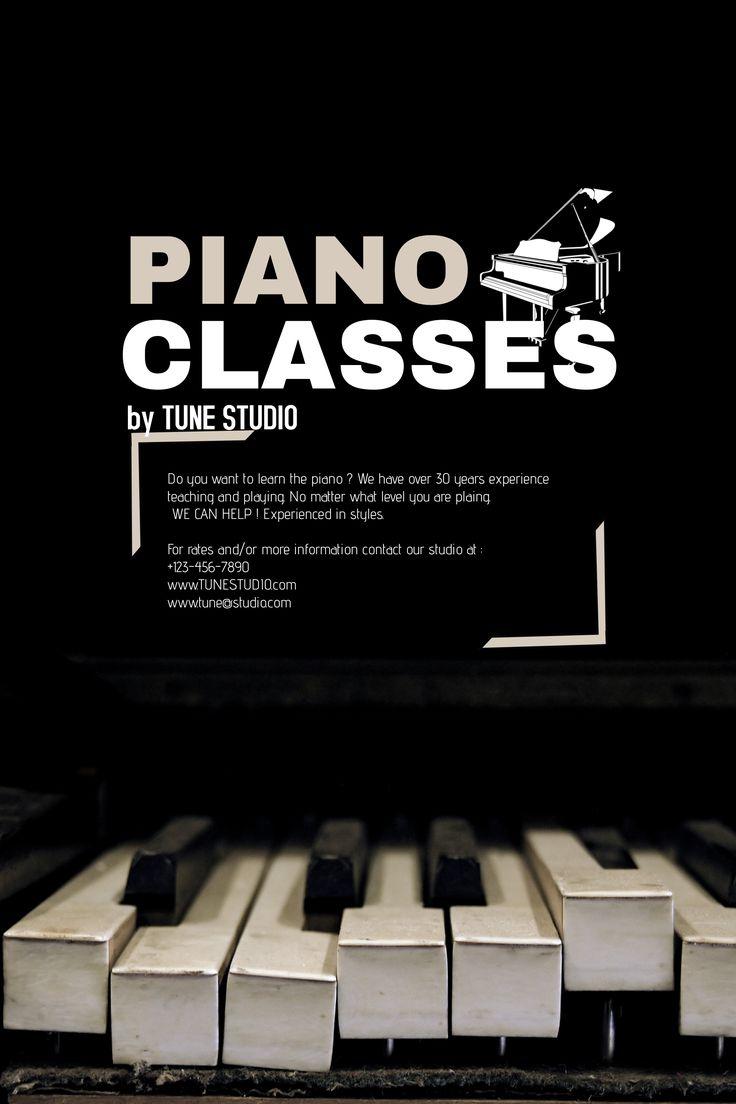 School Piano Classes Poster Template.
