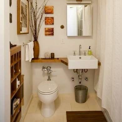 Image Gallery For Website Tiny bathrooms clever solutions add shelf over toliet