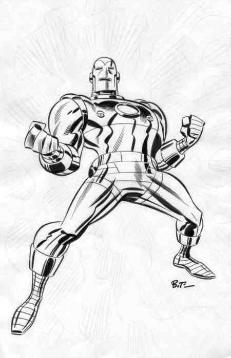 brianmichaelbendis: Iron Man by Bruce Timm
