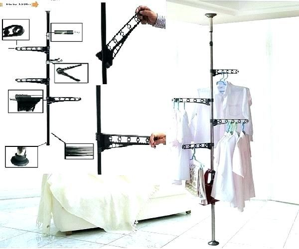 Floor To Ceiling Tension Rod Shelves