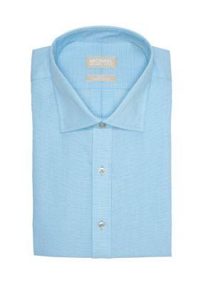 Michael Michael Kors Men's Big & Tall Non Iron Dress Shirt - Aqua - 17.5 34/35