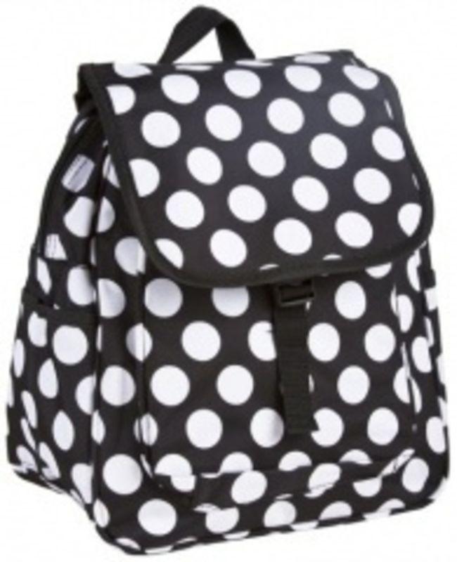 Cute Black and White Polka Dot Backpack for School