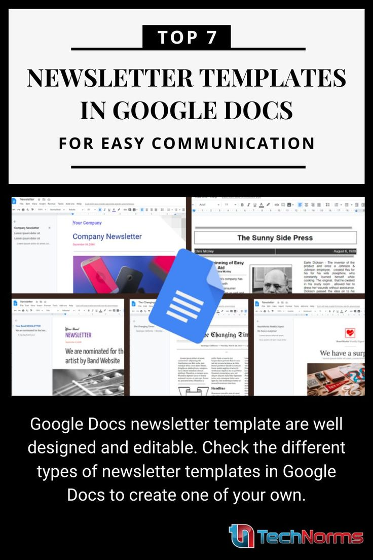 Top 7 Newsletter Templates In Google Docs For Easy Communication Newsletter Templates Google Docs Creating A Newsletter Create template in google docs