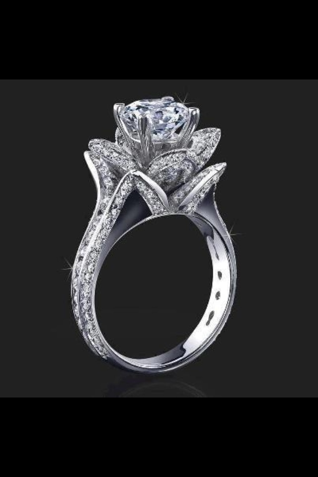 Tulip Wedding Ring This Is A Must One Day My Dream Wedding Ring But Of Cour